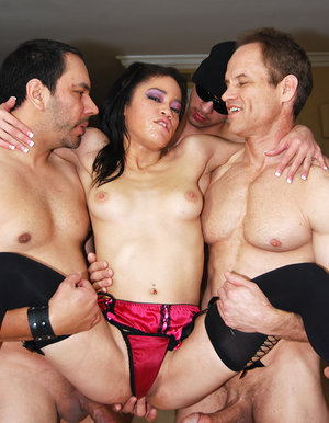 Asian slut gang-banged